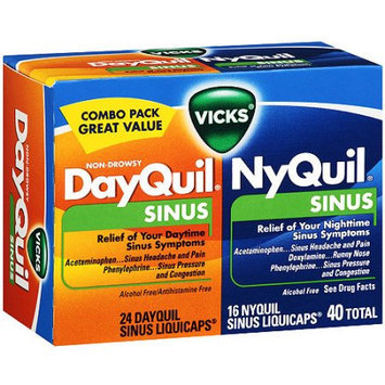 Vicks Dayquil Sinus Daytime Liquicaps & Nyquil Sinus Nighttime Liquicaps