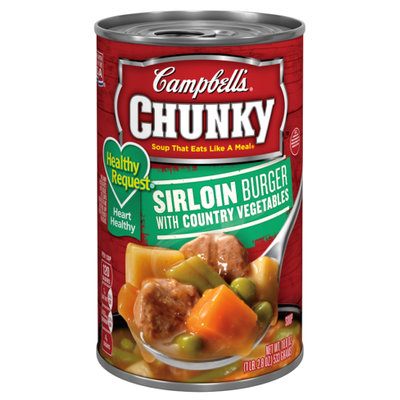 Campbell's® Healthy Request® Sirloin Burger with Country Vegetables Soup