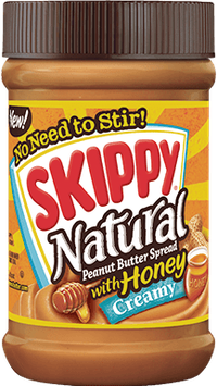 SKIPPY® Natural Creamy Peanut Butter Spread with Honey