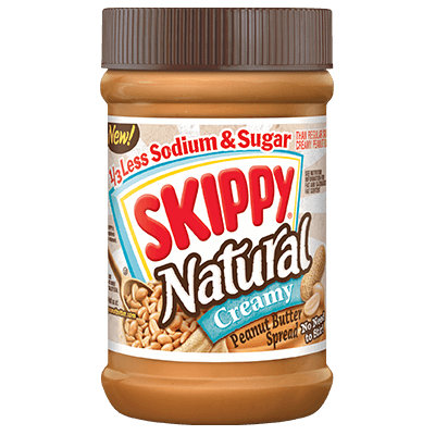 SKIPPY® Natural 1/3 Less Sodium & Sugar Peanut Butter Spread