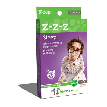 BioTerra Herbs - Z-Z-Z Sleep - Travel Pack - 10 Vegetarian Capsules