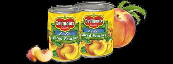 Del Monte® Sliced Yellow Cling Peaches - Lite