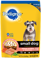 Pedigree® Complete Nutrition Small Dog Healthy Longevity Grilled Salmon, Rice & Vegetable Flavor Dog Food