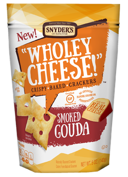 Synder's Of Hanover Wholey Cheese! Crispy Baked Cracker Smoked Gouda