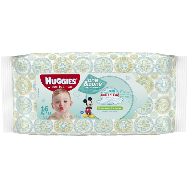 Huggies® One & Done® Refreshing Wipes