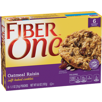 Fiber One Soft Baked Oatmeal Raisin Cookies