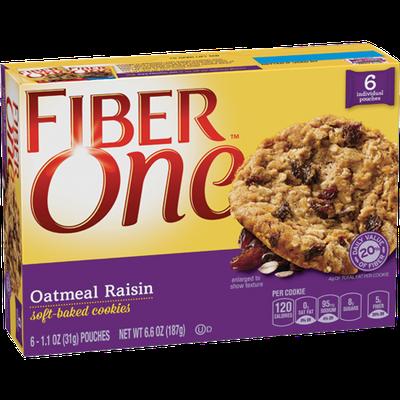 Fiber One Soft Baked Oatmeal Raisin Cookies