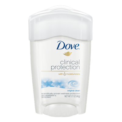 Dove Clinical Protection Antiperspirant Original Clean
