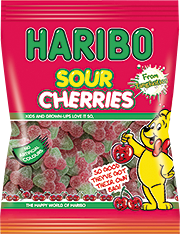 HARIBO Sour Cherries Gummi Candy