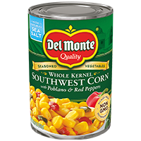 Del Monte® Southwest Corn with Poblano & Red Peppers