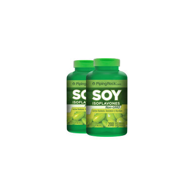 Piping Rock Soy Isoflavones 650mg 2 Bottles x 200 Capsules