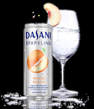 Dasani® Sparkling White Peach Flavored Water