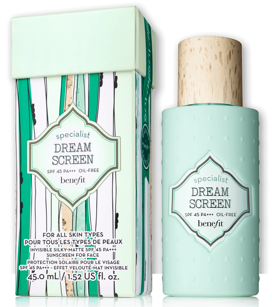 Benefit Cosmetics Dream Screen Invisible Silky-matte Broad Spectrum SPF 45 Sunscreen