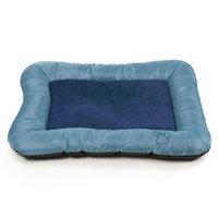 Trademark PAW Plush Cozy Pet Crate Dog Pet Bed - Blue - Medium