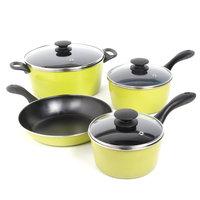 Gibson Overseas, Inc. Sunbeam Armington 7-Piece Cookware Set, Lime