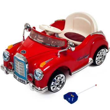 Trademark Games Lil' Rider Cruisin' Coupe Battery Operated Classic Car with Remote