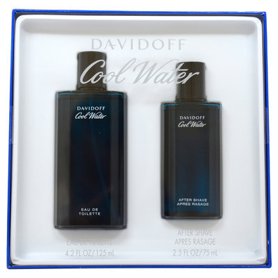 Coty Cool Water by Zino Davidoff for Men - 2 Pc Gift Set 4.2oz EDT Spray, 2.5oz After Shave Splash