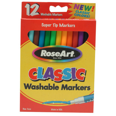 Rose Art Industries Inc. Super Tip Markers - Classic Color - 12ct