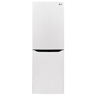 LG LBN10551SW 10.1 cu. ft. Counter-Depth Bottom-Freezer Refrigerator with 2 Spillproof Glass Shelves, 1 Humidity Crisper, Multi Air Flow, SmartDiagnosis, Door Alarm and LoDecibel Quiet Operation: Smooth White