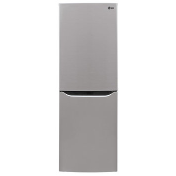 LG LBN10551PV 10.1 cu. ft. Counter-Depth Bottom-Freezer Refrigerator with 2 Spillproof Glass Shelves, 1 Humidity Crisper, Multi Air Flow, SmartDiagnosis, Door Alarm and LoDecibel Quiet Operation: Stainless VCM