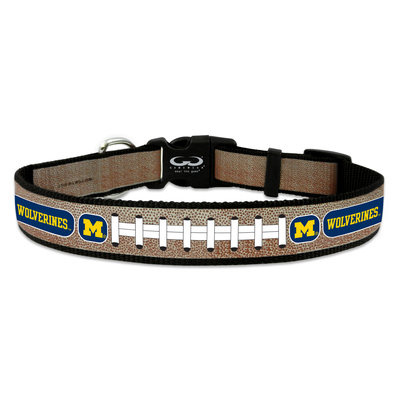Game Wear Inc NCAA Michigan Wolverines Reflective Dog Collar MD