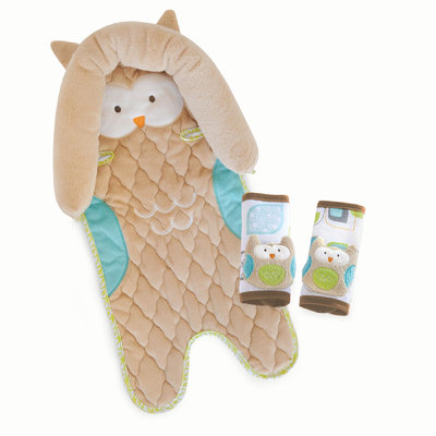 Carter's Head Support/Strap Cover Set Owl - GOLD INC.