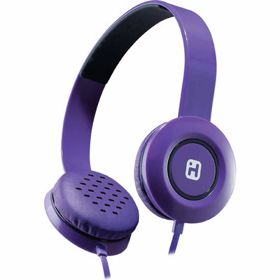Stereo Headphones w/ Flat Cable - Purple