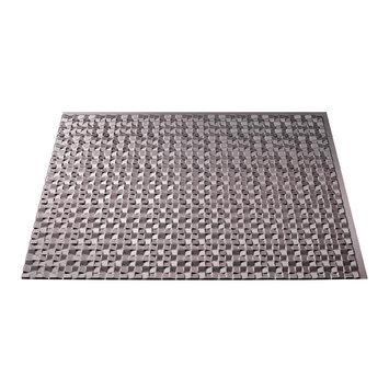 Fasade 18in x 24in Terrain Brushed Nickel Backsplash Panel