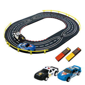 Artin 1:43 Scale Police Car Case Slot Racing Set