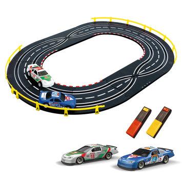 Artin 1:43 Scale Car Case Slot Racing Set