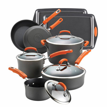Rachael Ray 12-pc. Nonstick Hard Anodized II Cookware Set