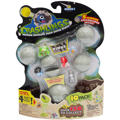 Wicked Cool Toys Crashlings 10-Pack Set - Dino