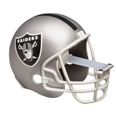 Scotch Magic Tape Dispenser Oakland Raiders Football Helmet - Holds Total 1 Tape[s] - Refillable - Silver (c32helmetoak)