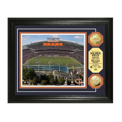 Bullion International,inc NFL 13x16 Gold Coin Photo Mint - Soldier Field
