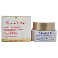 Vital Light Night Revitalizing Anti-Ageing Comfort Cream by Clarins for Unisex - 1.7 oz Cream