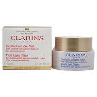 Vital Light Night Revitalizing Anti-Ageing Comfort Cream by Clarins for Unisex - 1.7 oz Cream