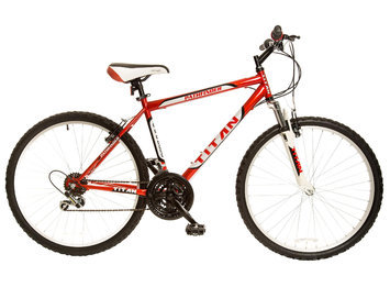 TITAN Pathfinder Men's 18 Speed Mountain Bike with Front Shock