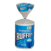 Ruffies Rip Stop Trash Bags 13 Gallon Tall Kitchen 135 Count