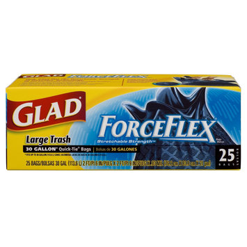 Glad Drawstring Force Flex Outdoor 30 Gallon Trash Bags 25 Count - FIRST BRANDS CORP/HOME PRODUCT