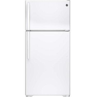GE White 14.6 Cu. Ft. Top-Freezer Refrigerator