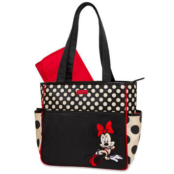 Rose Art Minnie Mouse Diaper Bag & Changing Pad - Polka Dot