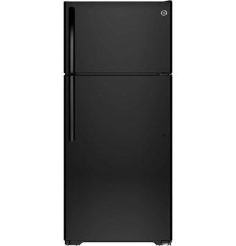 GE Refrigerator. 15.5 cu. ft. Top Freezer Refrigerator in Black GIE16DGHBB