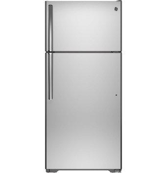 GE Stainless Steel Top-Freezer Refrigerator