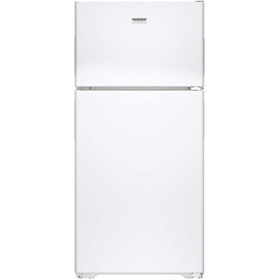 Hotpoint HPE15BTHWW 14.6 cu. ft. Top-Freezer Refrigerator with 3 Fresh Food Shelves, Dairy Compartment, Reversible Hinges, Gallon Door Storage and Never Clean Condenser