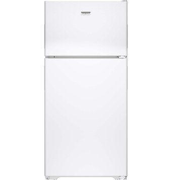 Hotpoint HPS15BTHRWW 14.6 cu. ft. Top-Freezer Refrigerator with 3 Fresh Food Shelves, Dairy Compartment, Reversible Hinges, Gallon Door Storage and Never Clean Condenser