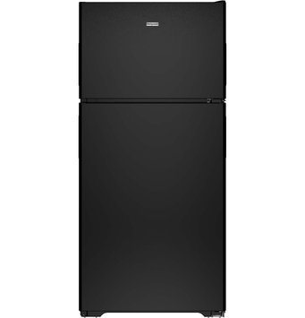 Hotpoint HPS15BTHRBB 14.6 cu. ft. Top-Freezer Refrigerator with 3 Fresh Food Shelves, Dairy Compartment, Reversible Hinges, Gallon Door Storage and Never Clean Condenser