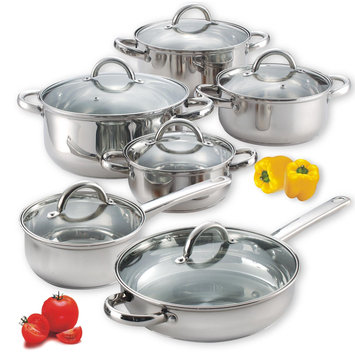 Cook N Home 12 Piece Stainless Steel Cookware set