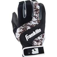 Franklin Sports Shok-Wave Batting Glove Black/White Digital Camo Adult Medium