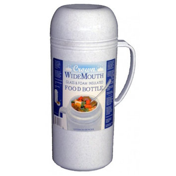 Waterbury Garment 1.0L Wide Mouth Glass Vacuum/Foam Insulated Food Thermos