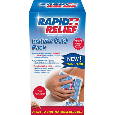Rapid Aid Rapid Relief Instant Cold Twin Pack 2 Ct (15.24cm x 22.86cm)